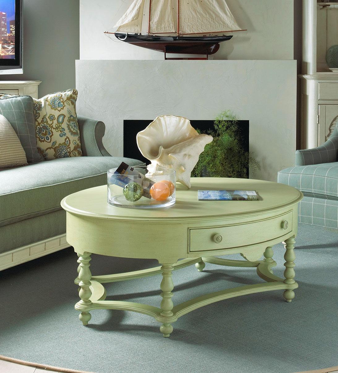 Fine Furniture Design Living Room Oval Cocktail Table 1052 932   Meg Brown  Home Furnishings   Advance, Winston Salem, Greensboro And Lexington, NC