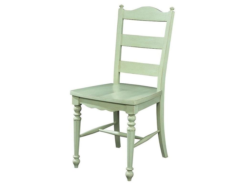 Fine Furniture Design Dining Room Ladder Back Side Chair 1052 826 Hickory Furniture Mart