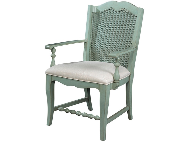 Fine Furniture Design Dining Room Wicker Back Arm Chair