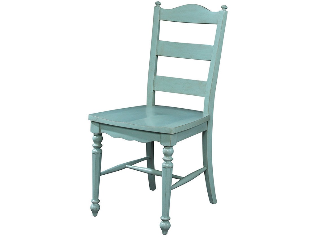 Fine furniture design dining room ladder back side chair 1053 826 kalin home furnishings Home design furniture ormond beach fl