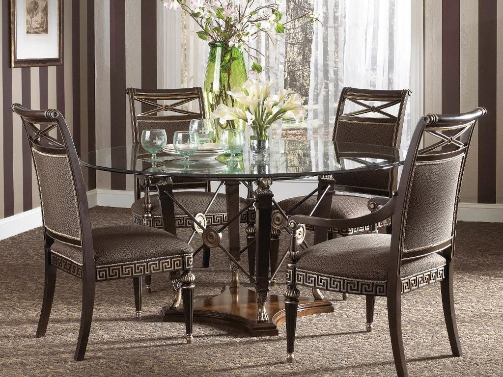 Fine furniture design dining room round dining table base 1152 810 kalin home furnishings Home design furniture ormond beach fl