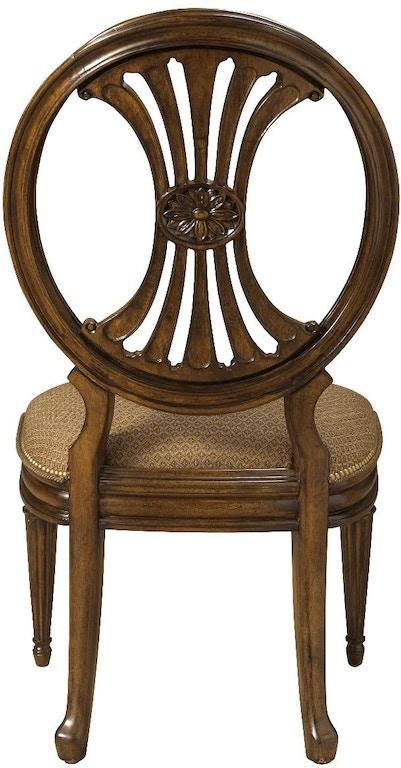 Fine Furniture Design Dining Room Oval Back Side Chair