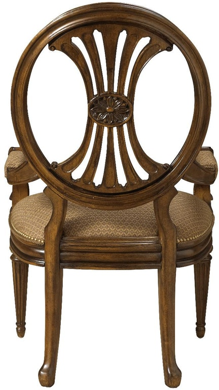 Fine Furniture Design Dining Room Oval Back Arm Chair 1150