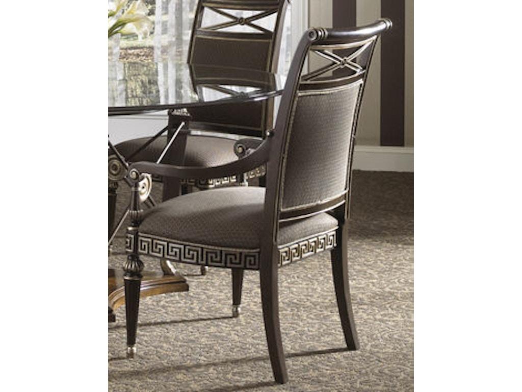 Fine furniture design dining room upholstered back arm for Fine dining room furniture