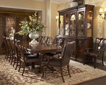 arlington round sienna pedestal dining room table w chestnut finish. 1110-818/819. double pedestal dining table arlington round sienna room w chestnut finish