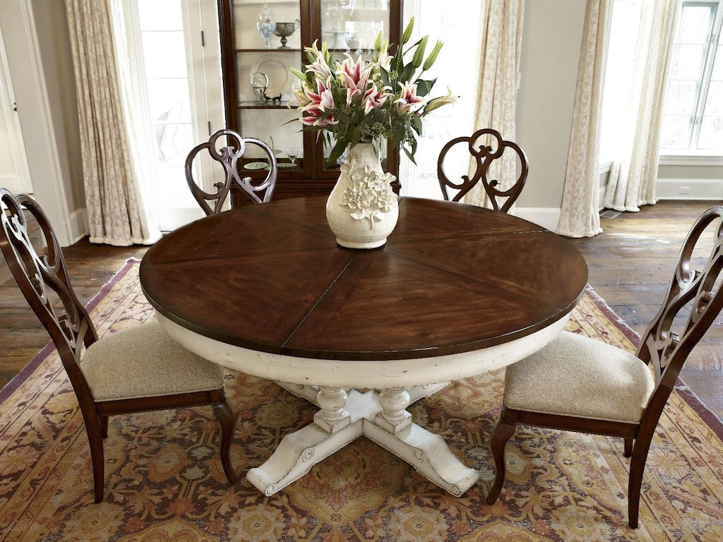 Fine furniture design dining room round extending dining for Fine dining room furniture