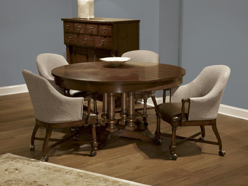 Fine furniture design dining room round extending dining for Fine dining room tables