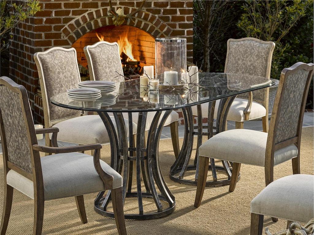 Fine furniture design dining room prescot dining pedestal for Fine dining room furniture