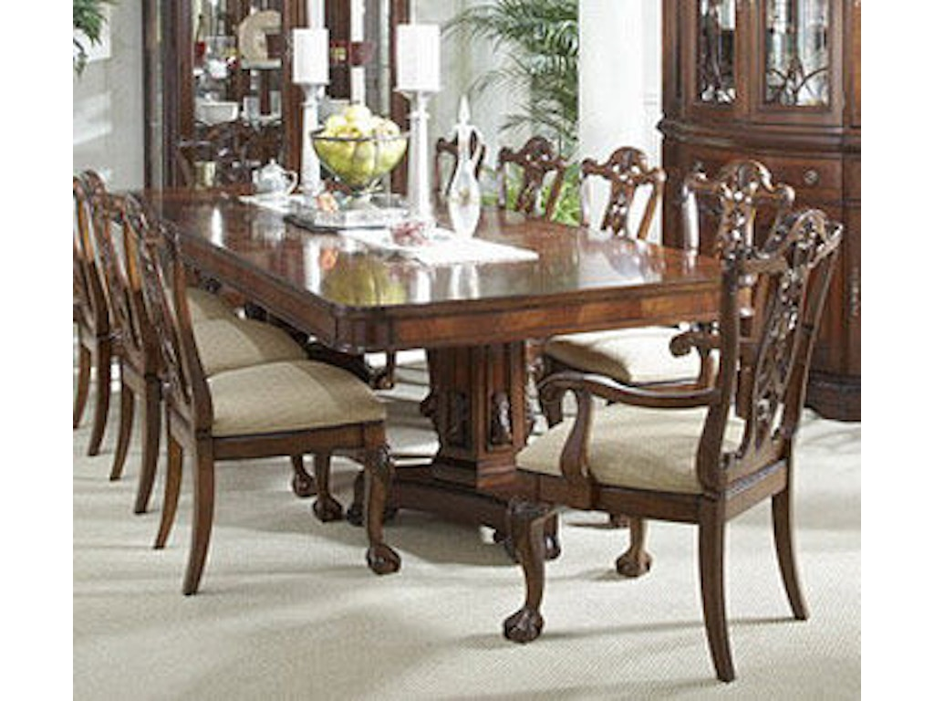 Fine furniture design dining room double pedestal dining for Fine dining room furniture