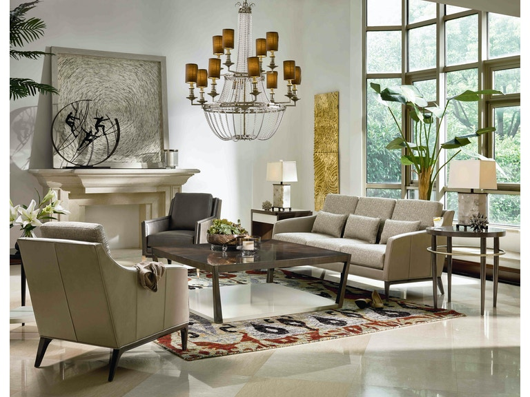 Fine Furniture Design Living Room Chaumont Leather Sofa 6824 01l At Kalin Home Furnishings