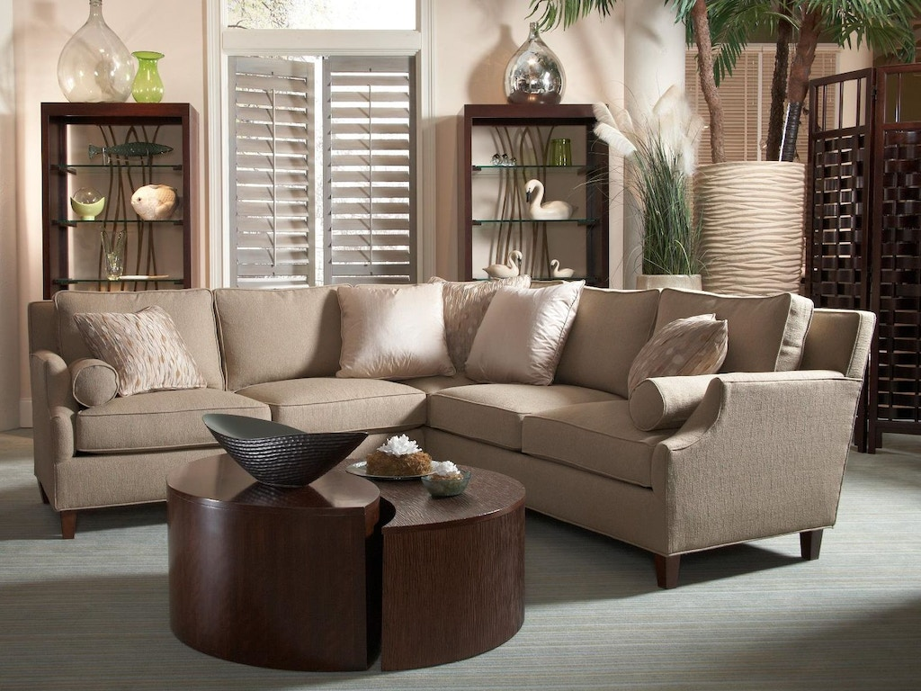 Fine furniture design living room left and right section sofa 3022 sectional woodbridge for Living room furniture san diego