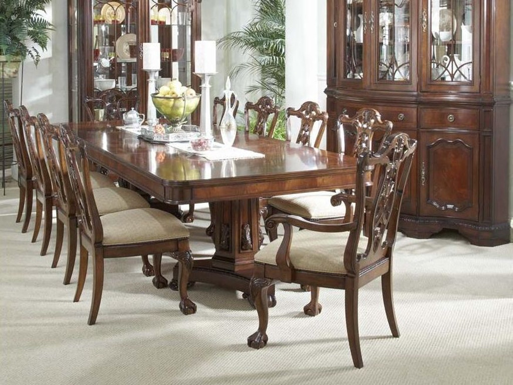 Fine Dining Room Tables And Chairs: Fine Furniture Design Dining Room Double Pedestal Table