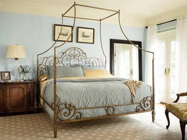 Fine Furniture Design Metal Canopy Bed, Queen 5/0 1349-250/251/252/253
