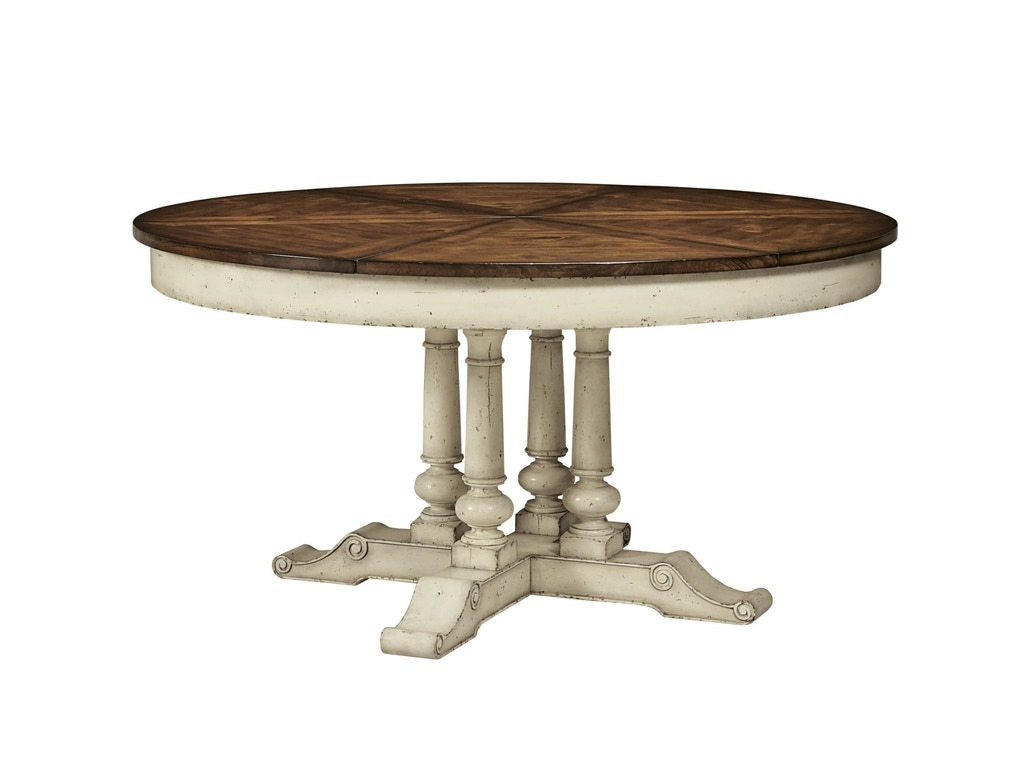 Fine furniture design dining room round extending dining for Extendable dining table india