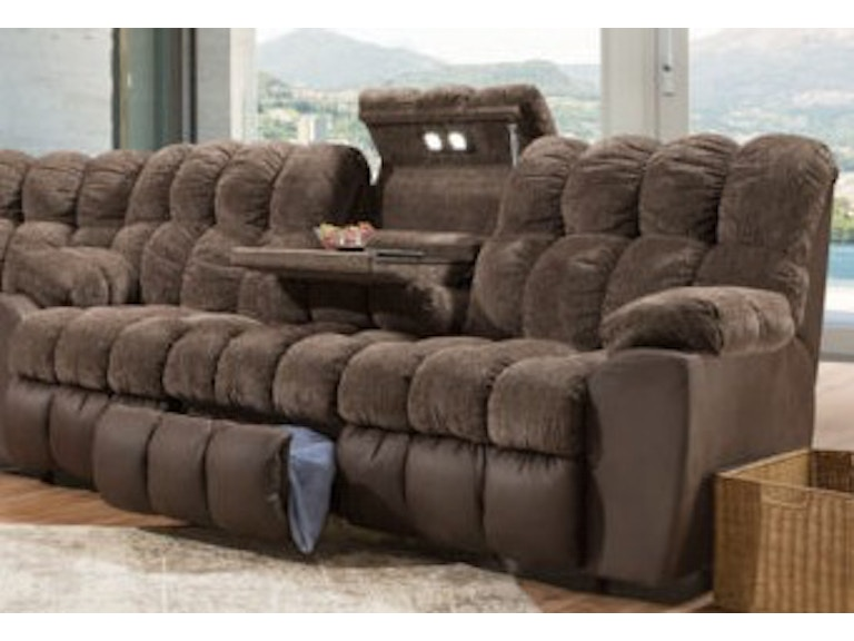 Franklin Living Room Power Recline Reclining Sofa Wdrop Down Table