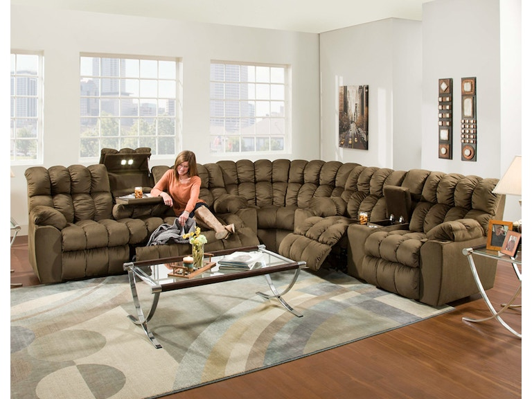 Franklin Living Room Power Recline Reclining Sofa With Drop Down