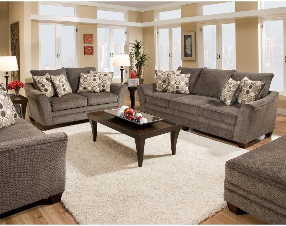 Franklin Living Room Abbot Chair And A Half 81188 Kamin  ~ Small Living Room Sofa Set