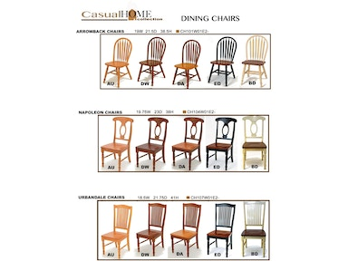 Gs Furniture Dining Room Urbandale Wood Seat Chair