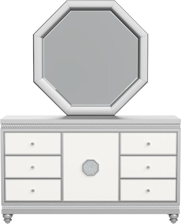 Global Furniture Usa Bedroom Dresser Kylie White Silver Dr Marketplace Greenville Sc