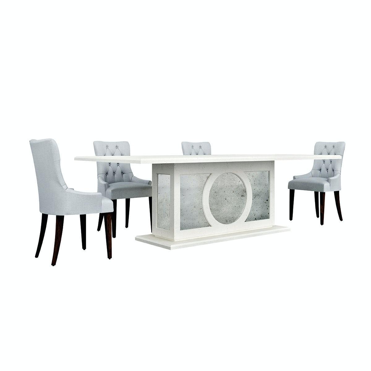 Habersham Plantation Corporation Chelsea Glass Top Dining Table 03 3729 G