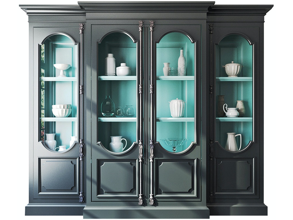 Tivoli breakfront display cabinet hb231439 for Habersham cabinets cost