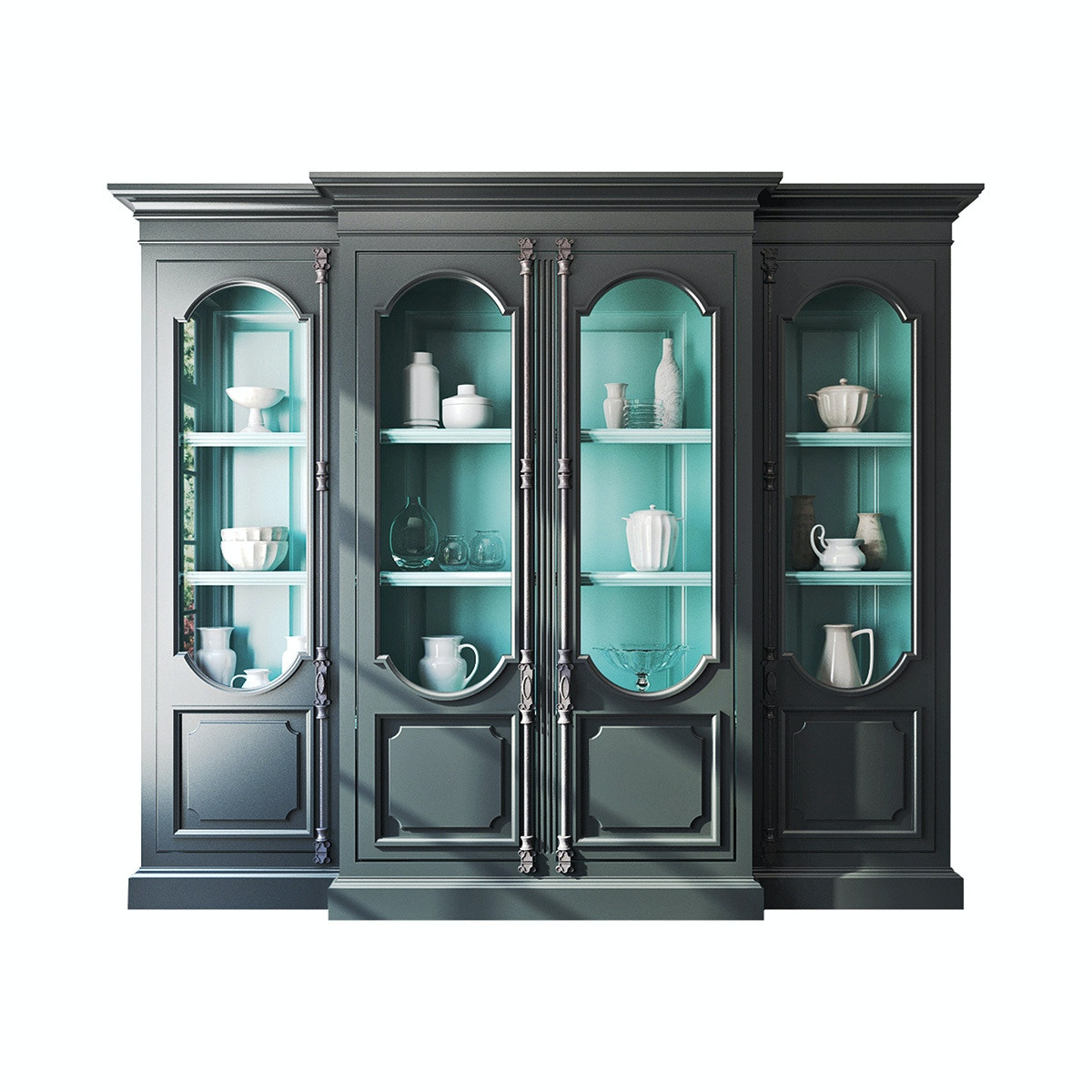 Habersham Plantation Corporation Tivoli Breakfront Display Cabinet 23 1439