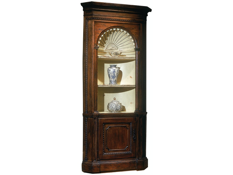 Habersham Plantation Corporation Living Room Preston Corner Cabinet ...