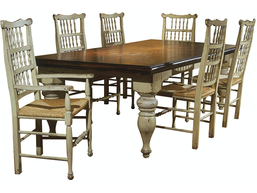 Habersham Home Dining Room Harvest Table With Two Leaves Hb371010 Walter E Smithe Furniture Design