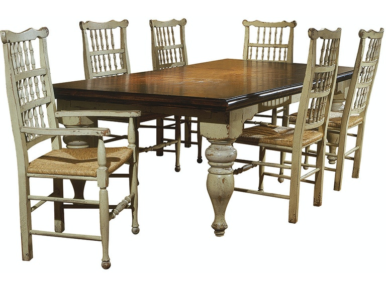 Habersham Plantation Corporation Dining Room Harvest Table With Two Leaves 37 1010 At Hamilton Park Interiors