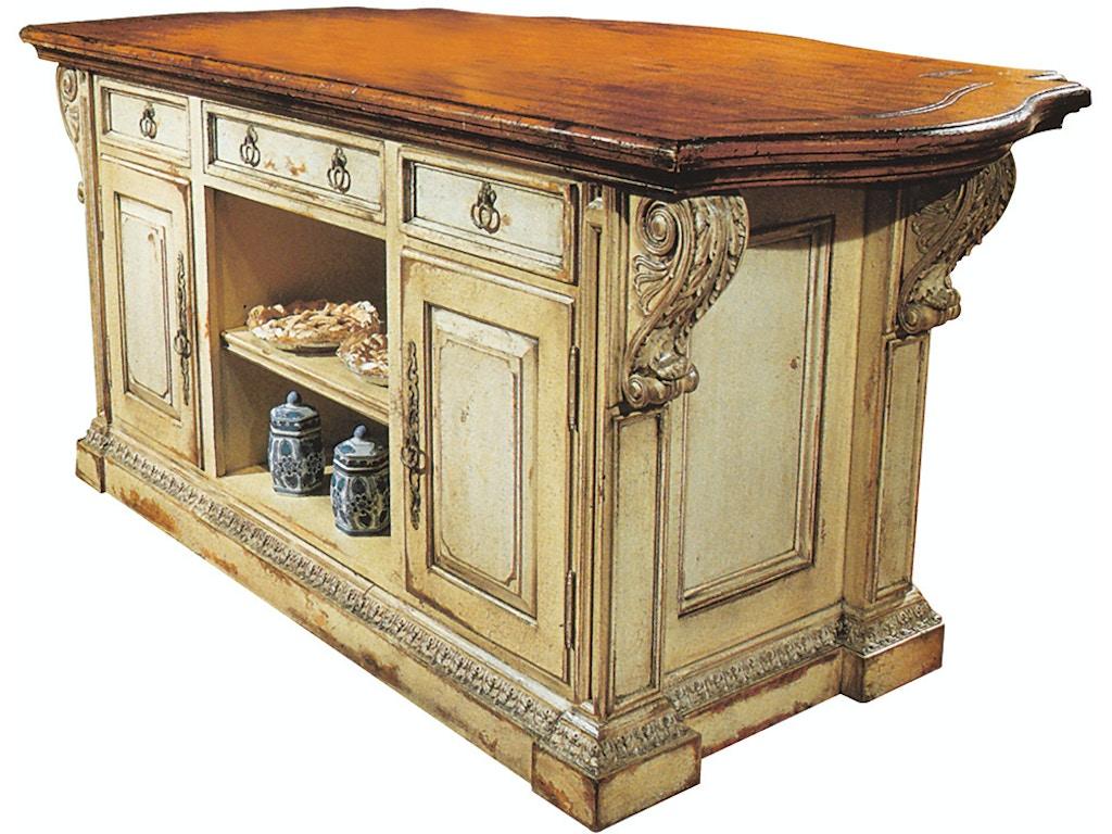 Habersham Home Chantepie Kitchen Island-60 Inches HB37304560 Walter E.  Smithe Furniture + Design