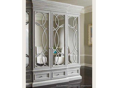Habersham Plantation Corporation East Hampton Display/Media Cabinet w/Mirrored Doors 01-2381
