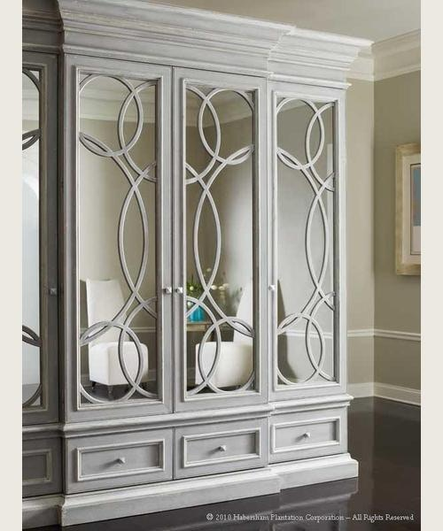 Habersham Plantation Corporation East Hampton Display/Media Cabinet  W/Mirrored Doors 01 2381