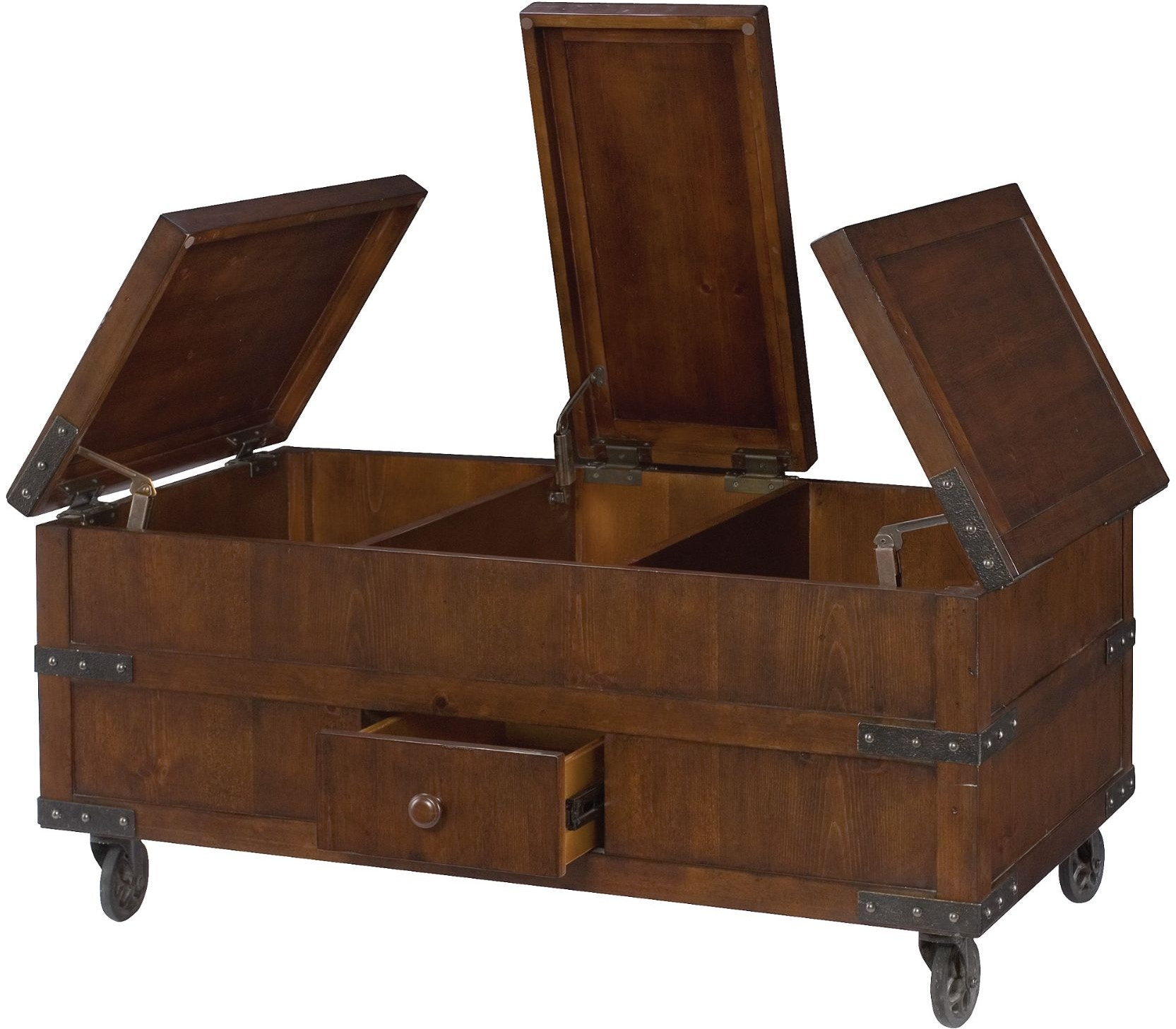 Hammary Living Room Trunk Cocktail 090 520 Hickory