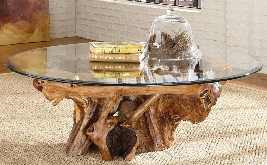 Hammary living room root ball cocktail table 090 555r - Living room furniture fort myers fl ...