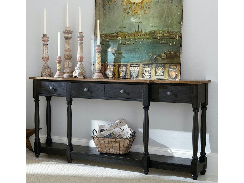 hammary living room drawer console 090 640 seaside furniture toms river brick and seaside. Black Bedroom Furniture Sets. Home Design Ideas