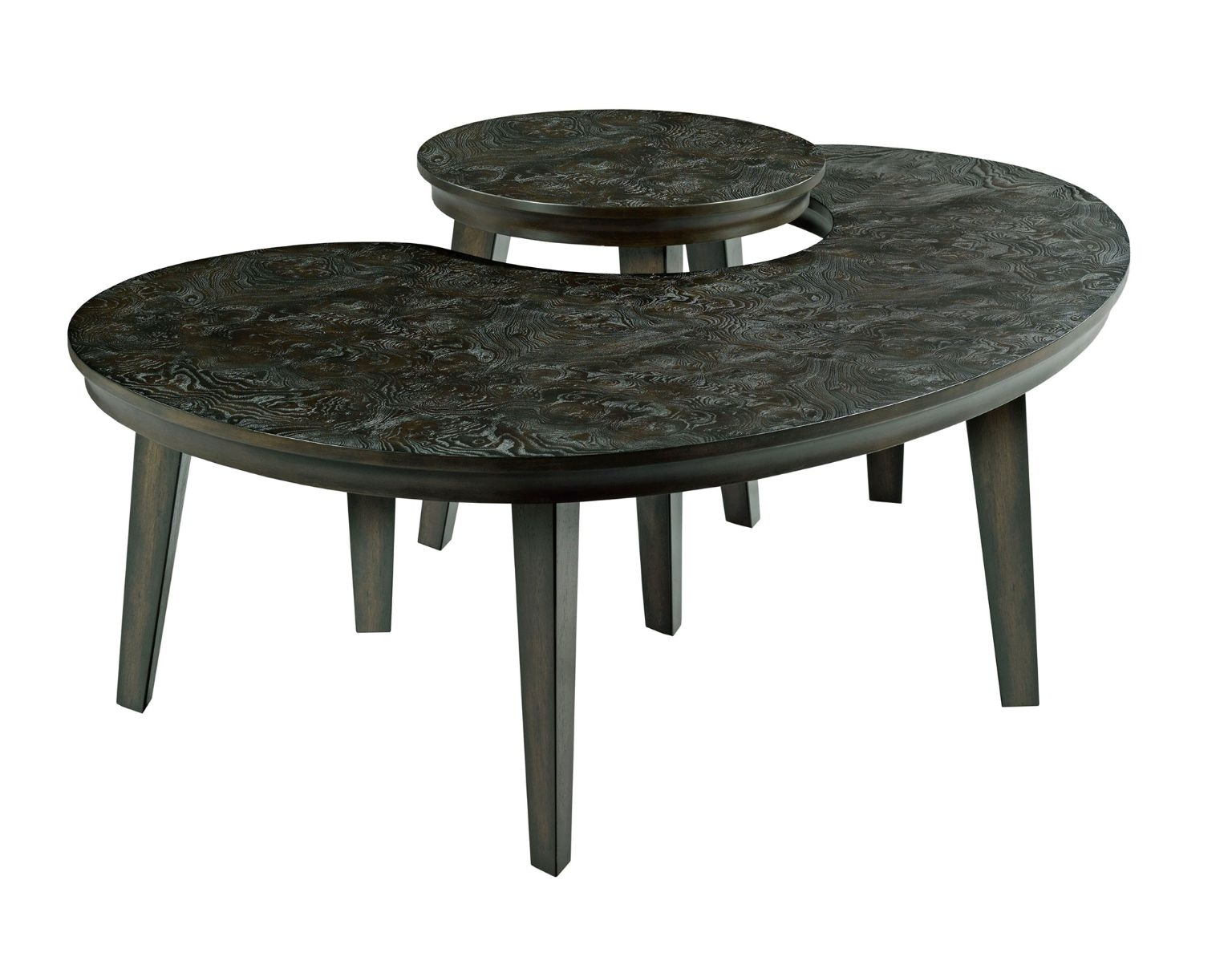 Hammary Living Room Kidney Nesting Tables 090 904 At Howell Furniture