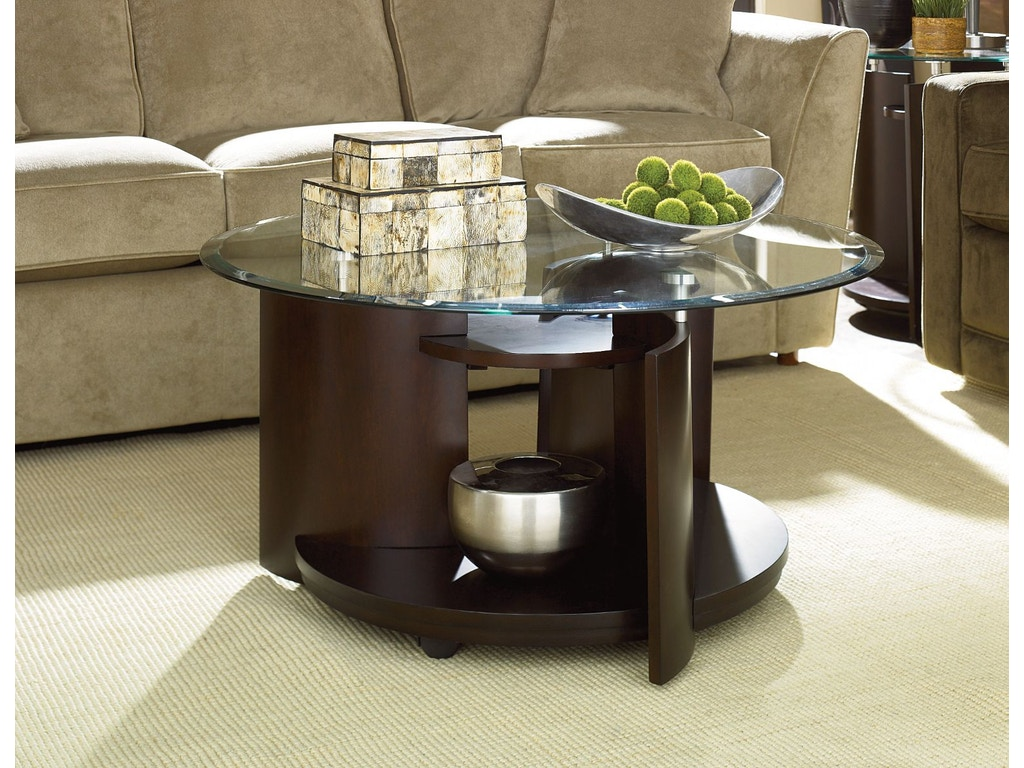 Hammary living room round cocktail table 105 911 seaside for Cocktail 911