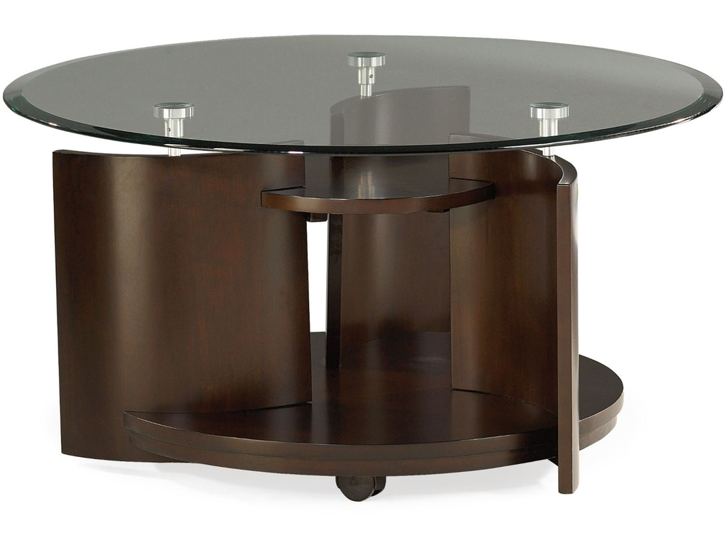 Hammary living room round cocktail table 105 911 carol for Cocktail 911