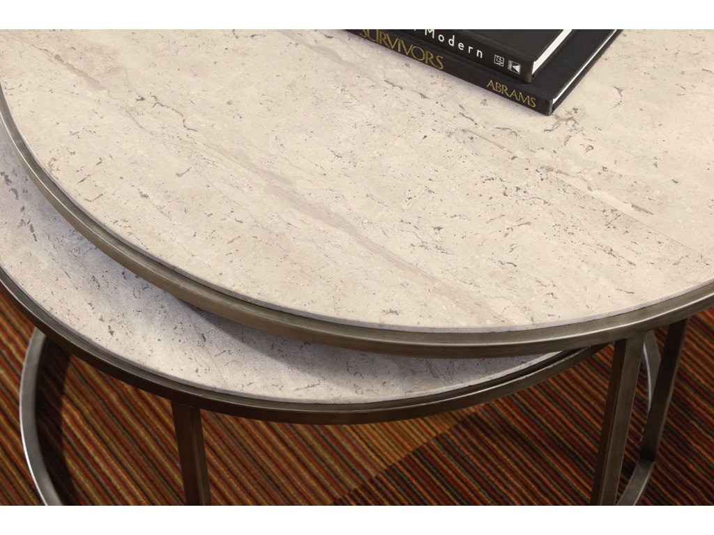 Hammary living room round cocktail table 190 911 matter - Living room furniture fort myers fl ...