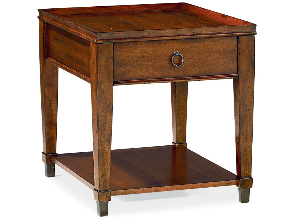 Hammary Living Room Rectangular Drawer End Table 197 915