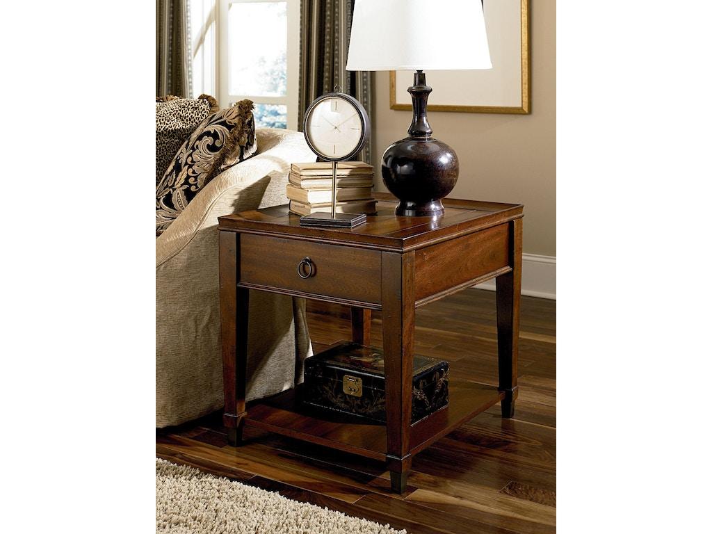Hammary Living Room Rectangular Drawer End Table 197 915 Carol House Furniture Maryland