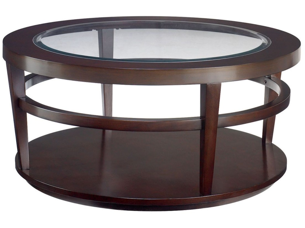 Hammary living room round cocktail table t20810 t2081505 for Cocktail tables and chairs