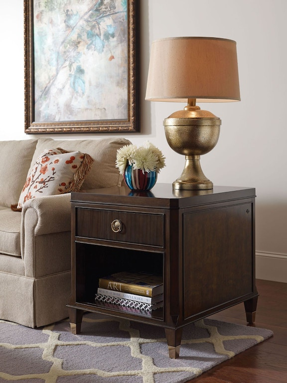 Hammary Living Room Drawer End Table 512 915 Kettle