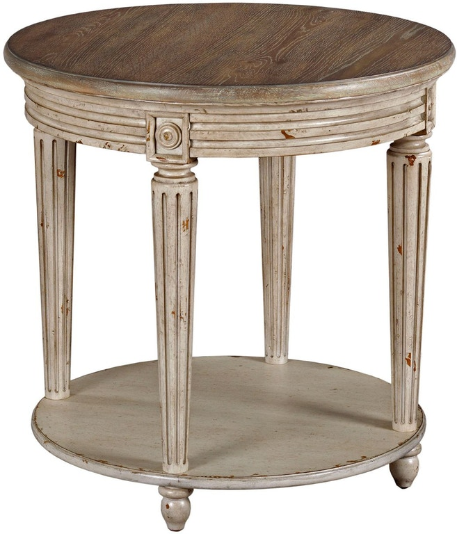 Hammary Living Room Round End Table 513 916 Carol House