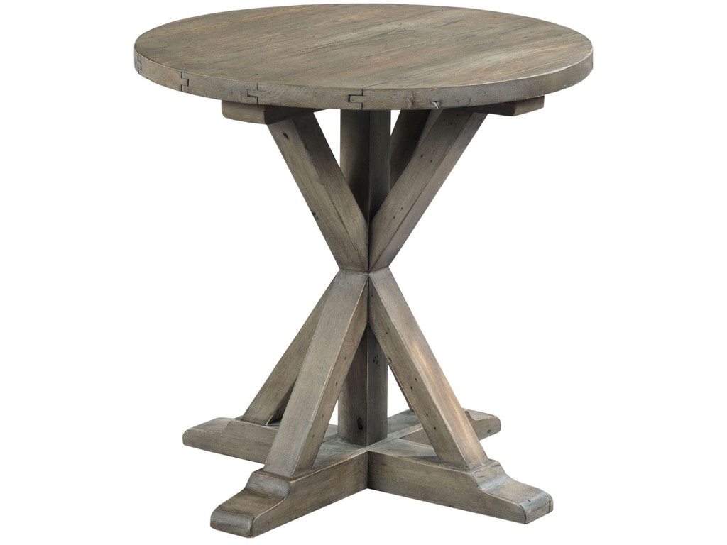 Hammary Living Room Trestle Round End Table 523 918