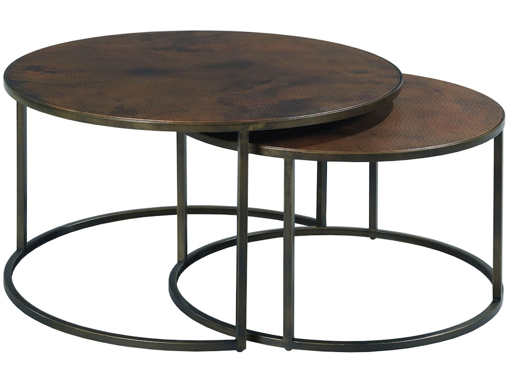 Hammary living room round cocktail table 553 911 kettle for Cocktail tables and chairs
