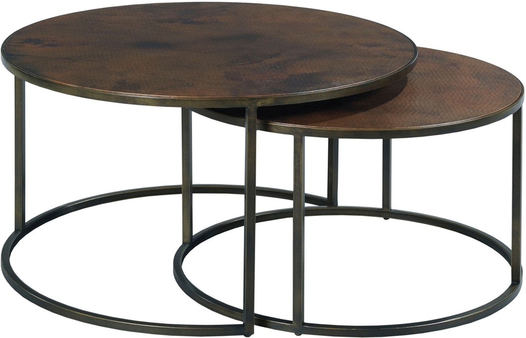 Hammary Living Room Round Cocktail Table 553 911 Stacy