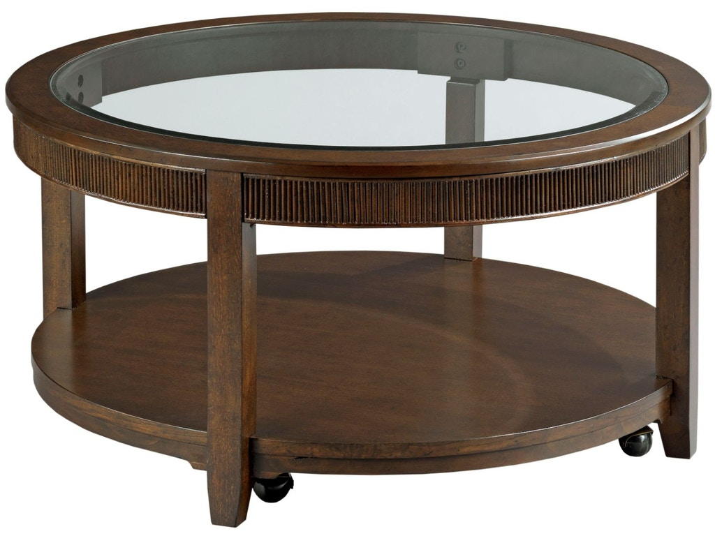 Hammary living room round cocktail table 674 911 quality for Cocktail 911