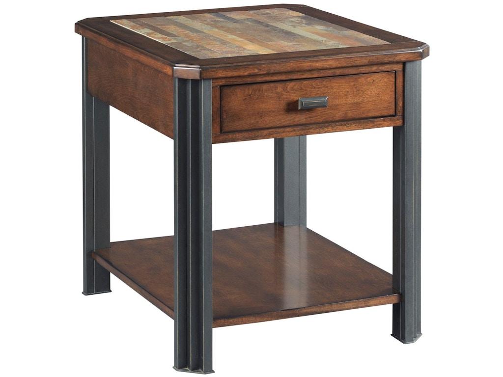 Hammary Living Room Rectangular Drawer End Table 675 915