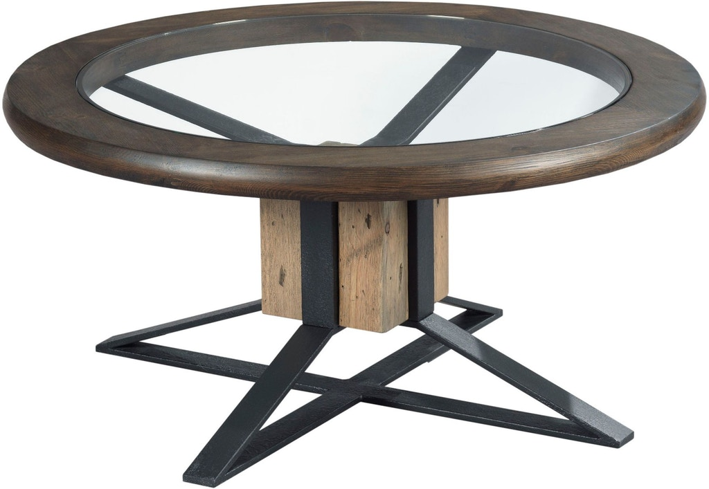 Hammary living room compass cocktail table 710 911 for Cocktail 911